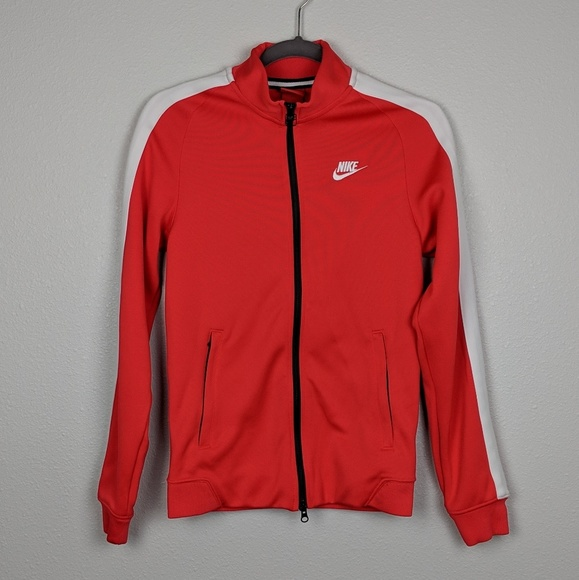 Risveglio devolvere Pastore  Nike Jackets & Coats | Nike Red Track Jacket With White Striped Arms |  Poshmark